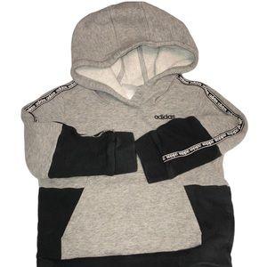 Adidas 3T Grey & Black Colorblock Hood Sweatshirt